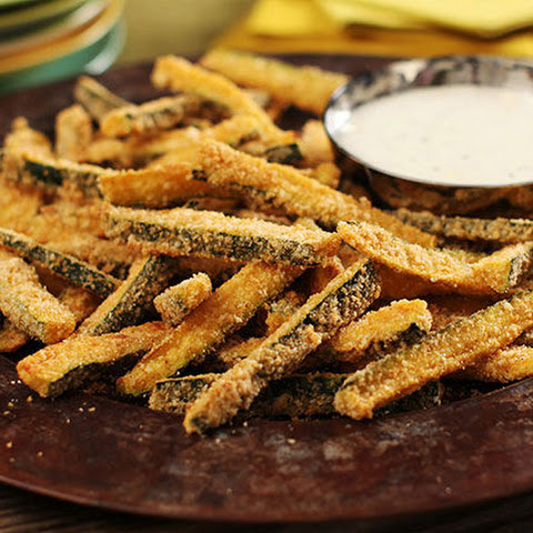 "Baked Panko-Coated Zucchini ""Fries"""