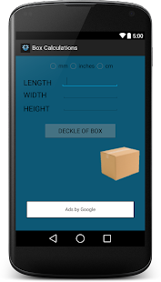Corrugated Box Calculation Pro screenshot for Android