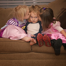 Cousin Love! by Michelle Sorel - Babies & Children Children Candids ( love, smooches, girl, boy, kisses )