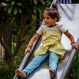 Fearful smile by Brijesh Meena - Babies & Children Children Candids ( children, child portrait, childhood, smile, portrait,  )