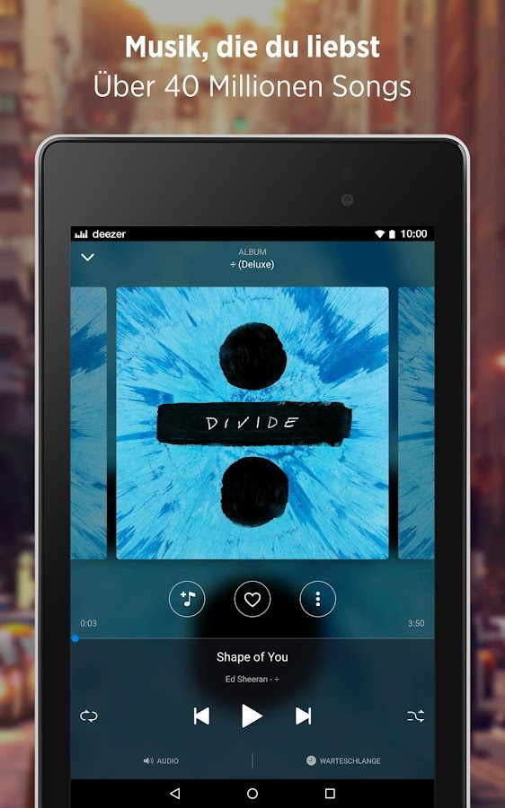 Deezer: Songs & Album Streaming mit unserer Musik App android apps download