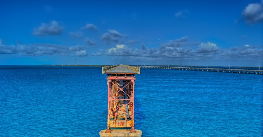 Take Me To Paradise by Raymond Hernandez - Landscapes Waterscapes ( water, clouds, hdr, key west, bridge, landscape )