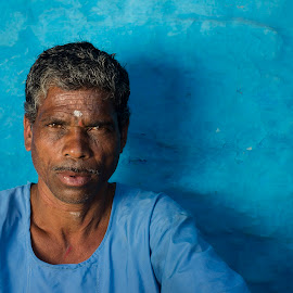 Portraits of a tribe by Vineet Pal - People Portraits of Men ( look, exposure, face, tribe, beautiful, street, indian, people, photography, rural, portrait, village, blue, india, portraits, light, man,  )
