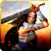 APK Game Wonder Girl Warrior Princess: Superhero War for BB, BlackBerry