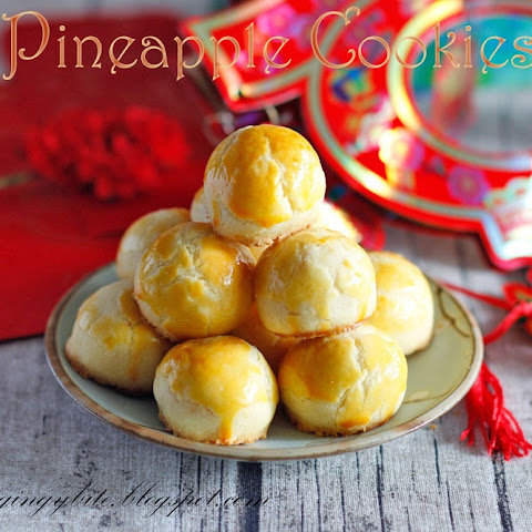 Melt In The Mouth Pineapple Tart / Cookies 黄梨酥/黄梨塔 Makes 34 pieces