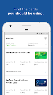 NerdWallet - Credit cards screenshot for Android