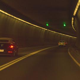 Traffci in a tunnel by Govindarajan Raghavan - City,  Street & Park  Street Scenes