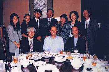 With Toru Takemitsu and friends, Tokyo
