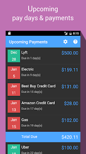 Bill Manager screenshot for Android