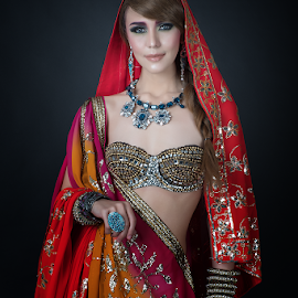 Bollywood Queen by Don Davies - People Portraits of Women ( fashion, style, woman, dress, make-up, design, portrait )