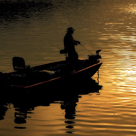 ANTICIPATION by Dana Johnson - Transportation Boats ( dawn, lake, sunrise, transportation, fishing, boat )
