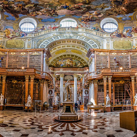 Austrian National Library, Vienna by Michael Wiejowski - Buildings & Architecture Public & Historical ( wien, hofburg, books, europe, travel, architecture, learning, education, history, vienna, library, austria, culture )