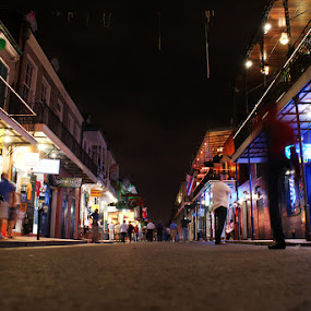 Bourbon Street by Kevin Sullivan - Landscapes Travel ( bourbon, new orleans, street, night )
