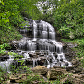 Washing The Rocks by Randell Whitworth - Nature Up Close Water ( mountains, nc, waterfall )