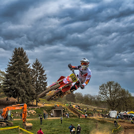 Drive me Crazy !!!  by Dragan Rakocevic - Sports & Fitness Other Sports ( motocross, moto, xcrosse, white, sports, motorcycle, jump, 12 )