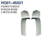 H100 2004 Fender, Inner Fender, Inner Lining, Front Fender, Rear Mud Guard (66320-4F000, 66310-4F000, 61220-4F000, 61210-4F000, 86812-4F001, 86811-4F001)