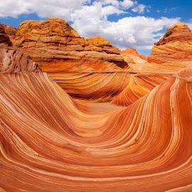 Desert Swirl by Ken Henke - Landscapes Deserts ( desert, rock formations, arizona, summer, sandstone )