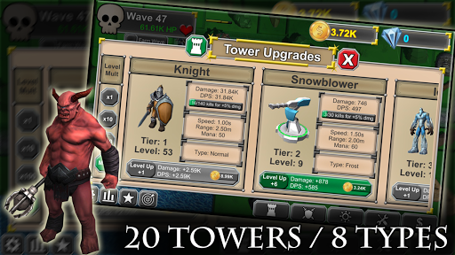 Idle Tower Defense: Fantasy TD Heroes and Monsters