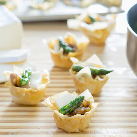 Brie and Asparagus Phyllo Tarts