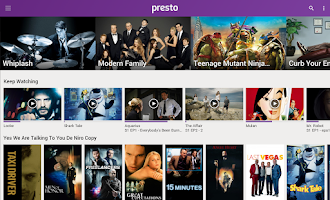 Screenshot of Presto Entertainment