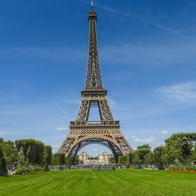 Eiffel Tower by Jerry Cahill - Buildings & Architecture Public & Historical