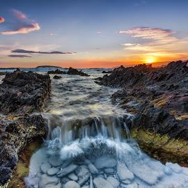 Petrel Cove Falls by Nicole Rix - Landscapes Waterscapes ( beautiful, summer, seascape, landscape, coastline )