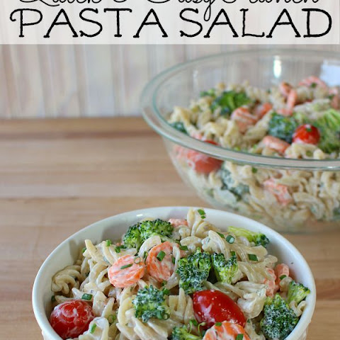 Meatless Ranch Pasta Salad