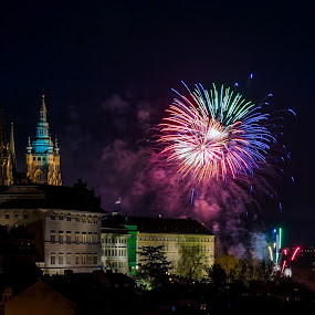 New Year in Prague  by Robert Grim - City,  Street & Park  Historic Districts ( europe, new year, czech, czech republic, prague,  )