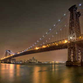 Williamsburg Bridge by Rich Voninski - Buildings & Architecture Bridges & Suspended Structures ( williamsburg bridge, nyc )