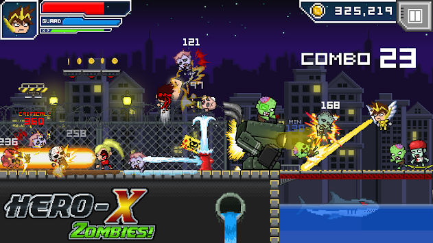 HERO-X: ZOMBIES! apk screenshot