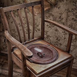 Take Your Seat Please ! by Marco Bertamé - Artistic Objects Furniture ( chair, cover, wood, arm rest, seat )