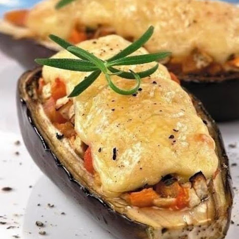 Eggplant With Chicken And Cheese