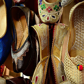 embroidered sandals by Prasanta Das - Artistic Objects Clothing & Accessories ( embroidered, sandals, leather )