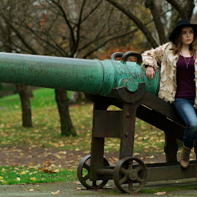 by Rakesh Malik - People Fashion ( urban, model, girl, park, nature, female, fuzzy, outdoor, fur )
