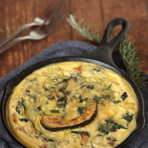 Winter Squash, Leek and Chard Frittata