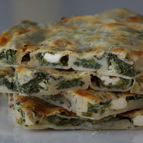 Spinach & Feta Börek with Mushrooms & Olives