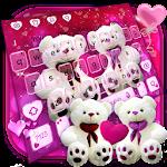 Lovely Pink Teddy Bear Keyboard Icon