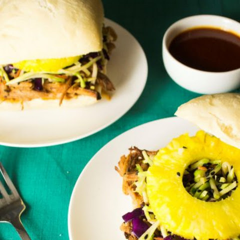 Pineapple Chili Lime Slow Cooker Pork Sandwich with Hawaiian Slaw