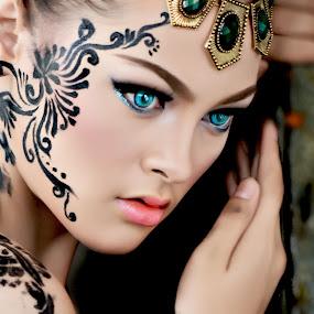 Blue eyes..... by Joni Alir - People Portraits of Women