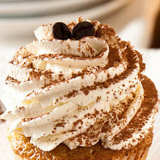 Tiramisu Cupcakes with Coffee Marsala Syrup