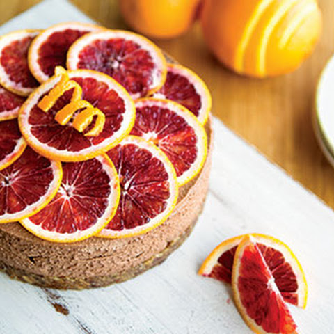 Silky Chocolate Blood Orange Cheesecake