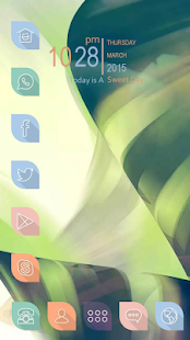Color interlaced lines Themes - screenshot