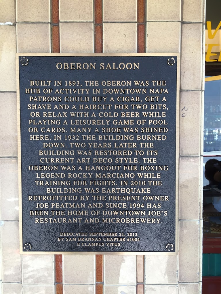 OBERON SALOON BUILT IN 1893, THE OBERON WAS THE HUB OF ACTIVITY IN DOWNTOWN NAPA PATRONS COULD BUY A CIGAR, GET A SHAVE AND A HAIRCUT FOR TWO BITS, OR RELAX WITH A COLD BEER WHILE PLAYING A ...