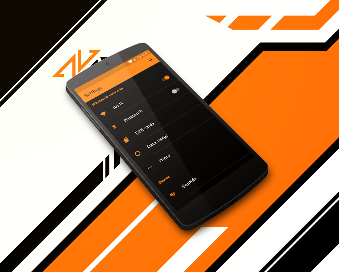 Asiimov Dark CM13 CM12 Theme Screenshot 4