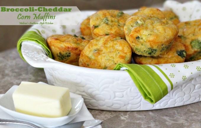 Broccoli Cheddar Corn Muffins Recipe   Yummly