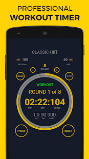Workout Timer PRO Fitness app screenshot for Android