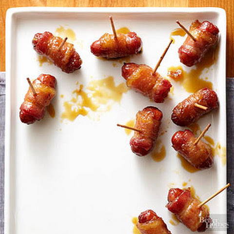 Sugared Bacon-Wrapped Smokies