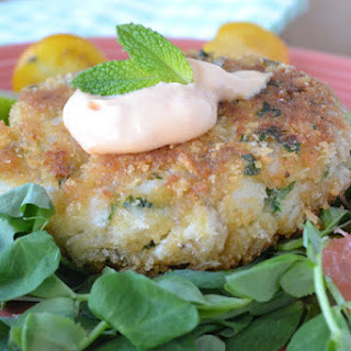 Atlantic Cod Cakes with Ruby Red Salsa