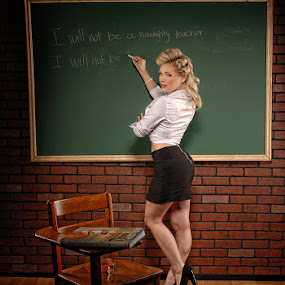 Hot For Teacher by Michael Giardina - People Portraits of Women