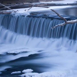 Frozen in Motion by Bud LaRosa - Landscapes Waterscapes ( iceberg, water, winter, waterscape, ice, snow, waterfall, frozen )